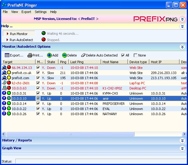 PrefixPNG - powerful and user-friendly application for easy network monitoring